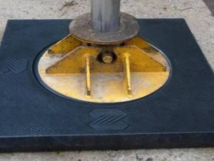 高分子聚乙烯支腿垫板的实际应用
