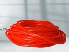 彩色绝缘耐磨PE缠绕管