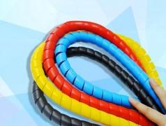 电线电缆螺旋缠绕管 PP螺旋保护套