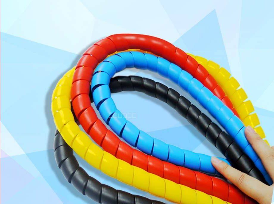 电线电缆螺旋缠绕管 PP螺旋保护套 1