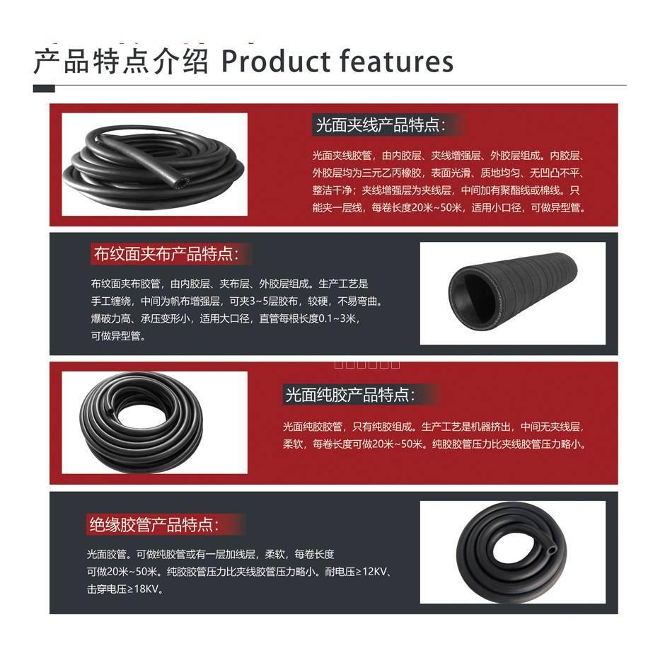 三元乙丙EPDM橡胶输水管 4