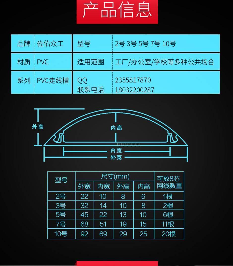 家庭办公专用PVC弧面走线槽 3
